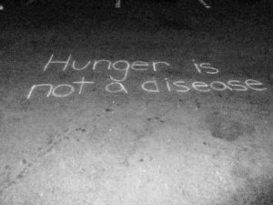 Hunger is not a disease written in chalk