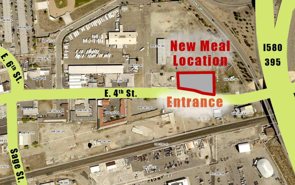 Map of new location between Sage Street and I580 on East 4th in Reno. 1905 E 4TH ST Reno, NV 89512